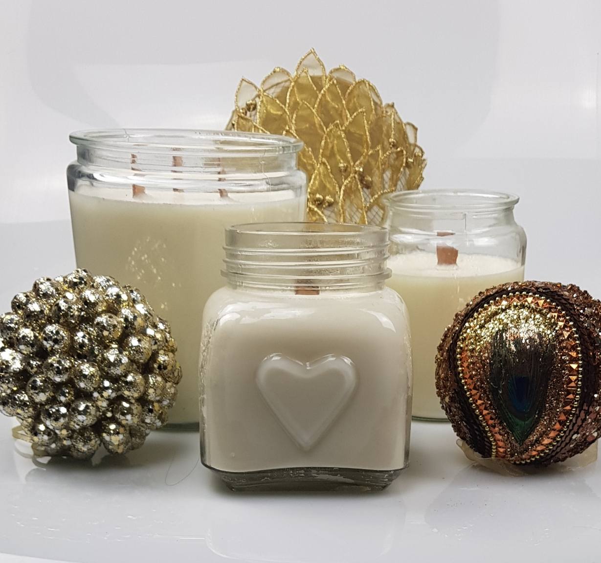 refill candles, 3 candles refilled how to make candles